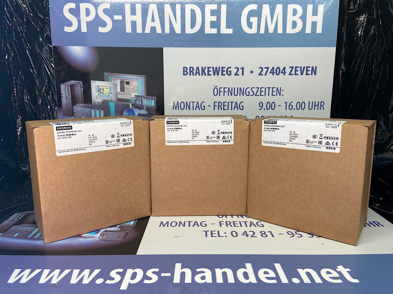 6ES7515-2FM02-0AB0   S7-1500F   CPU1515F-2PN   NEU Siegel 26%